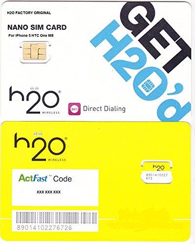 H2O Wireless Nano Sim Card Starter Kit for Iphone 5 HTC One M8 H2o Wireless Iphone