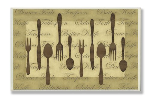 WOODEN SPOON AND FORK WALL DECOR