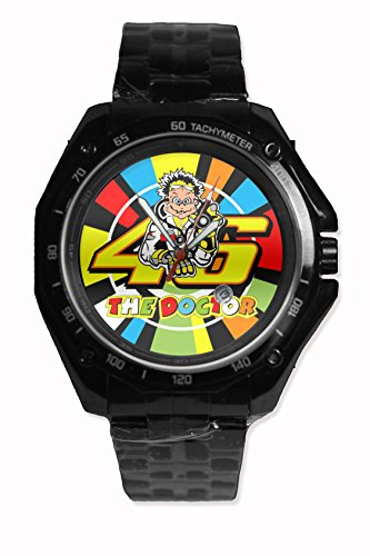 46 Rossi The Doctor Design Custom Printed Snap On Watch Stainless Steel Black