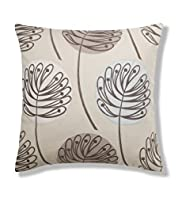 Contemporary Leaf Appliqué Cushion