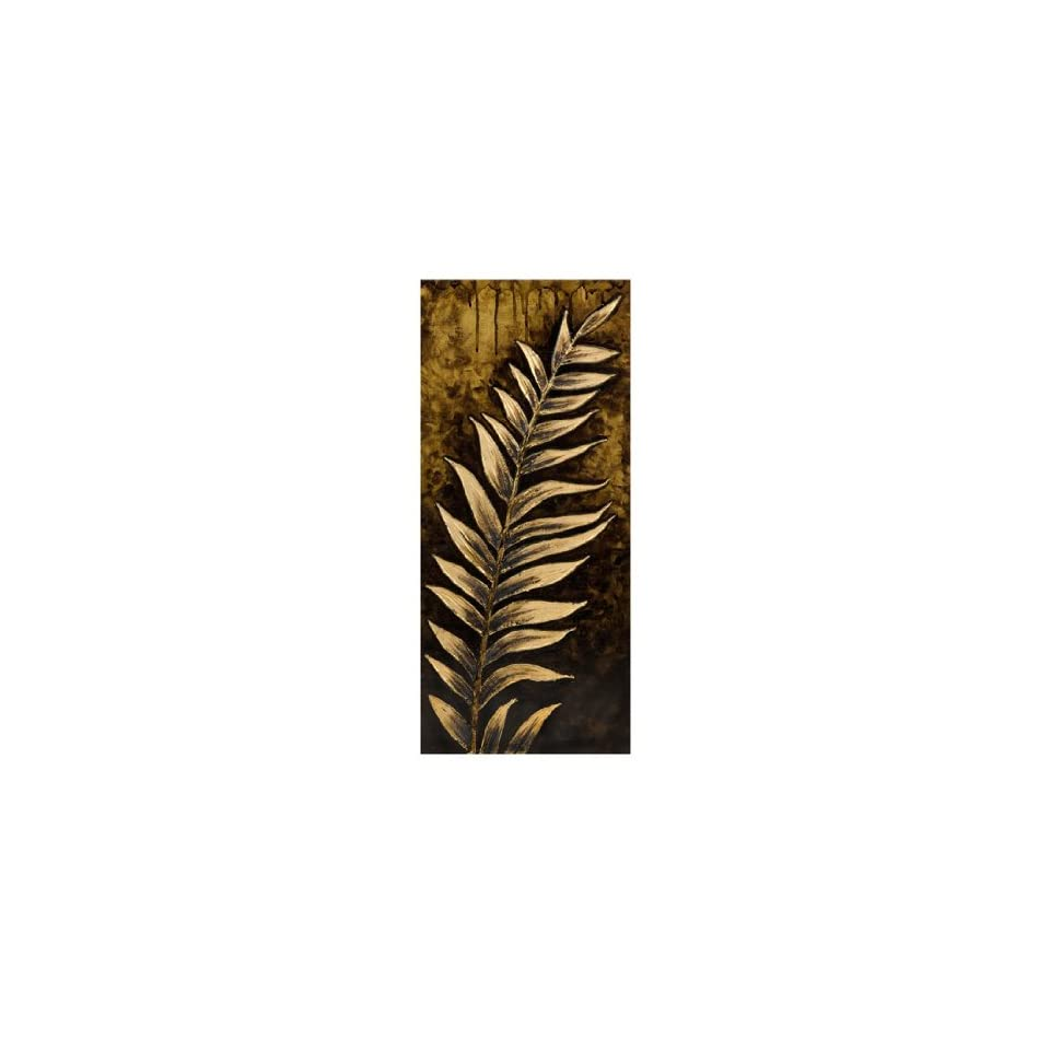 Large 3D Gilded Leaf Earth Tone Hand Painted Canvas Wall Decor 35