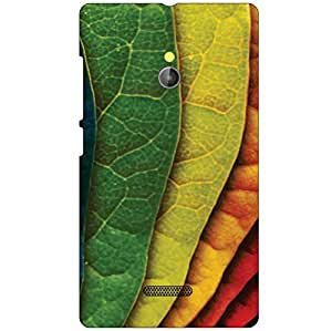 Nokia XL RM-1030/RM-1042 Back Cover - Colored Leaves Designer Cases