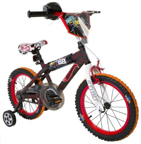 Hot-Wheels-Boys-16-Inch-Bike-BlackRedOrange