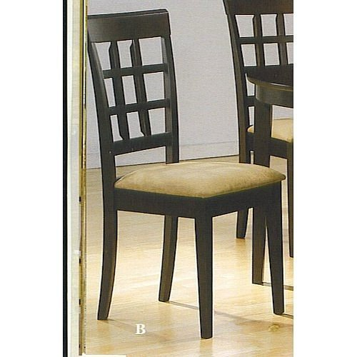 cheap set of 4 chairs in a rich cappuccino finish
