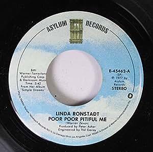 Linda Ronstadt Linda Ronstadt 45 Rpm Poor Poor Pitiful