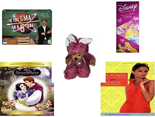 [Girl's Gift Bundle - Ages 6-12 [5 Piece] - Are You Smarter Than A 5th Grader? Game - Disney Princess 52