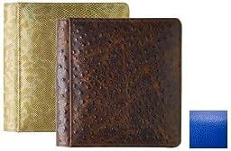 RODEO BLUE #103 pebble grain fine leather 1-up 5x7 album by Raika® - 5x7