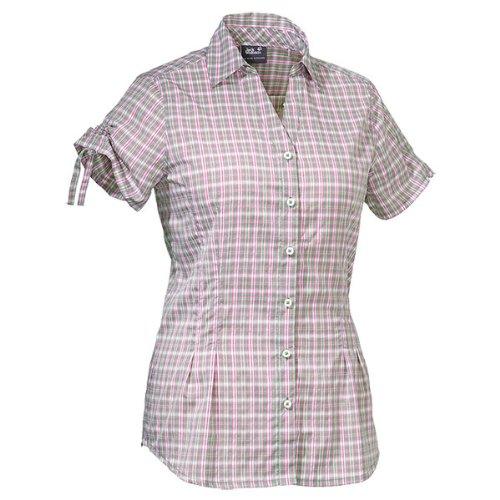 Jack Wolfskin Damen Bluse Farlane Shirt Women, Opal Green Checks, XXL, 1401201-7505006