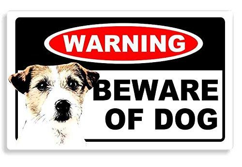 Jack Russell Dog - Beware Sticker - Cane Auto Adesivi / Porta Di Casa / Home Door / Car Sign