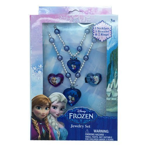 Disney Frozen Jewelry Box Set with Necklace, Bracelet, & Ring