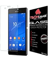 TECHGEAR® Sony Xperia Z3 GLASS Edition Genuine Tempered Glass Screen Protector Guard Cover