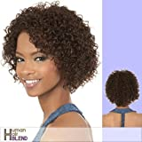 HB-MARCH (Motown Tress) - Human Hair Blend Full Wig in F26_613 by Oradell International Corporation
