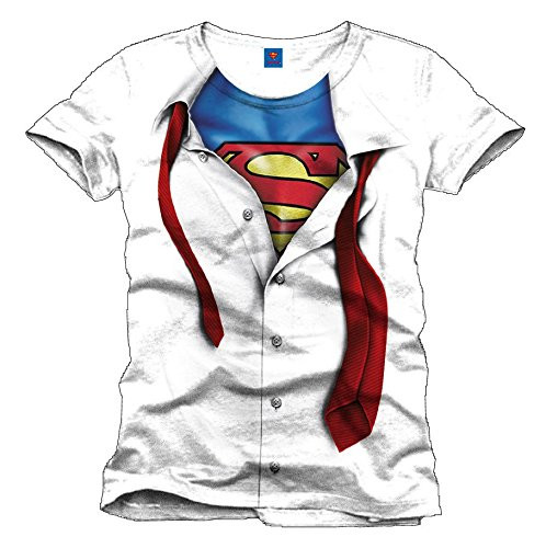 Superman T-Shirt Clark Kent white Size M CODI