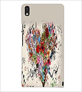 PrintDhaba Heart D-2156 Back Case Cover for HUAWEI ASCEND P6 (Multi-Coloured)