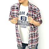 (コスビー)COSBY きいサイズ チェックシャツ 半袖Tシャツ付き