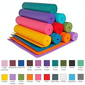 YogaAccessories (TM) 1/4'' Extra Thick High Density Yoga Mat (Phthalate Free) - Black