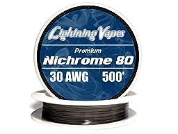 Genuine Lightning Vapes 30 AWG Nichrome 80 Wire 25\' 50\' 100\' 250\' 500\' 1000...