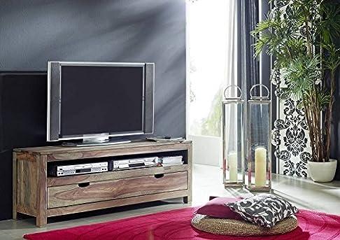 Legno massiccio Sheesham mobili TV-board in palissandro legno massiccio Nature Grey #153