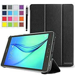 Galaxy Tab A 8.0 SM-T350 Case, Pasonomi Ultra-Slim and Ultra-light PU Leather Folio Case Stand Cover With Smart Cover Auto Wake / Sleep Feature for Samsung Galaxy Tab A 8.0 SM-T350 Tablet (Black)
