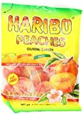 Haribo Gummi Candy, Peaches, 5-Ounce Bags (Pack of 12)