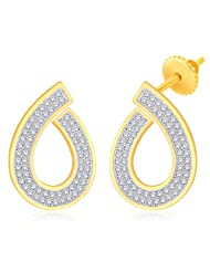 Peora Valentine 18 Karat Gold Plated Cubic Zirconia Pear Shape Drop Earrings (ET50G)