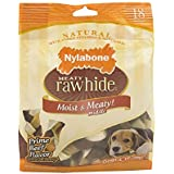 Nylabone Rawhide Meaty Dog Bone Beef Flavor Treats 2- 18ct 8.2 oz Bags (Pack of 2)