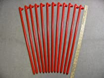 "A 12 Pack of 24"" Long Heavy Duty Steel Tent Anchors or Tent Stakes"