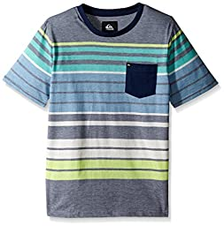 Quiksilver Big Boys\' Long Way Tee, Dark Denim, Small