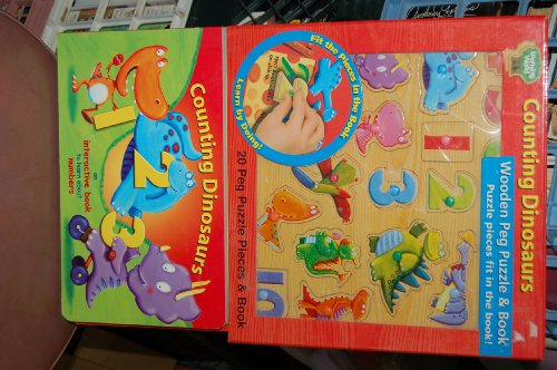 Cheap Learning Wood Counting Dinosaurs Wooden Peg Puzzle & Book (B0032PBRX4)