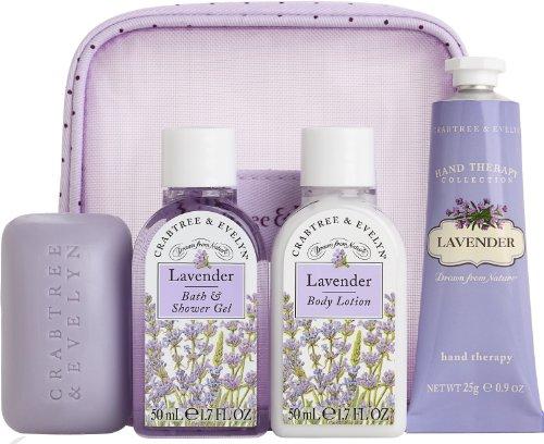 Crabtree & Evelyn Lavender 4pc Traveler Set #44221