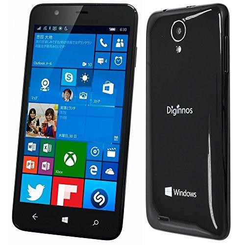 Diginnos SIMフリー スマートフォン DG-W10M ( Windows10 mobile / クアッドコア / 5.0インチ / 1280*720 / デュアル SIM / LTE対応 / RAM1GB / ROM16GB )
