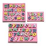 3er Zahlen & Buchstaben Silikon Ausstechform Ausstecher Fondant Namen &