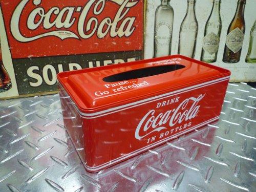 ★アメリカンダイナー!コカ・コーラ メタル ティッシュケース コカ・コーラグッズ ブランド coca-cola