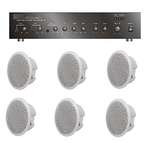 Store/Salon/Restaurant Business Background Music Sound System- Amplifier, 6 Speakers +