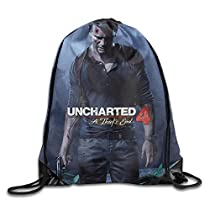PRIMEEE Uncharted 4:A Thief's End Logo Drawstring Backpack Sack Bag