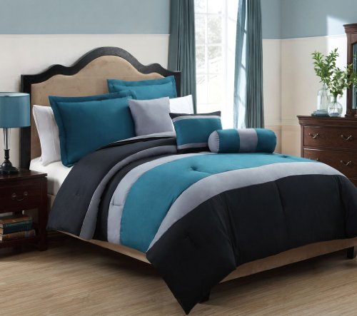 Gray Bedding Sets King 6646 front