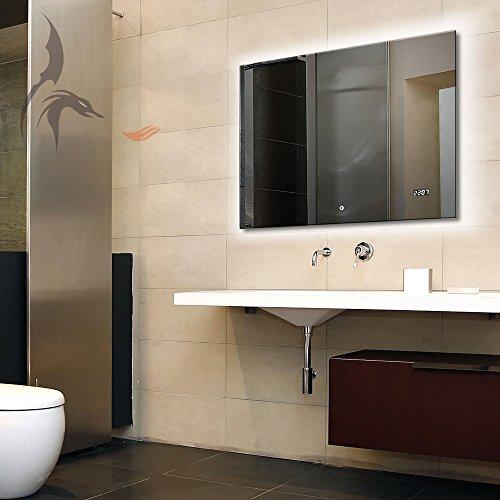 Badspiegel-LED-beleuchtetmit-Uhr-Arzberg-80x60cm-Badezimmerspiegel-Energieklasse-A
