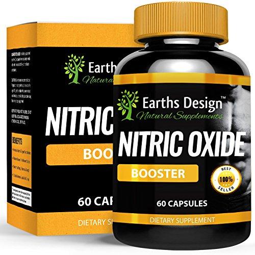 Integratore ultrapotente di Ossido Nitrico NO2 per uomini, formula pre-allenamento con L-arginina e l-glutammina, accresce i muscoli e il numero di sollevamenti, aumenta forza e resistenza, 60 capsule