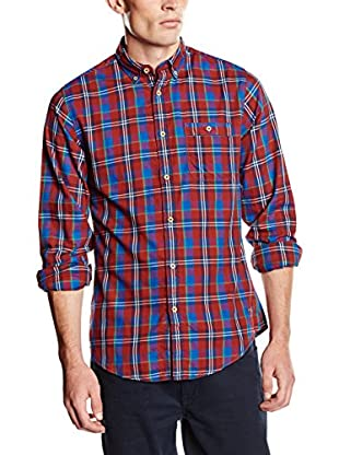 Springfield Camisa Hombre (Granate / Azul)