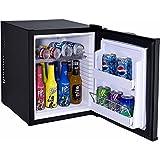 Syntrox Germany 28 Liter Null DB-lautloser Mini Kühlschrank geräuchloser Hotelkühlschrank