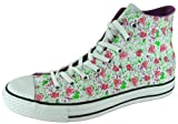 Converse Women's All Star Chuck Taylor Paint Hi Casual Shoe Pink, White, Lime (9)
