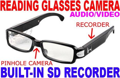 Reading Glasses Video Camera Recorder