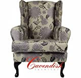 LUXURY ORTHOPEDIC HIGH SEAT CHAIR in FLORAL DUSK FABRIC 21