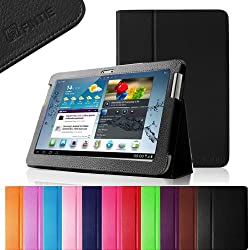 Fintie (Black) Slim Fit Folio Case Cover for Samsung Galaxy Tab 2 10.1 inch Tablet