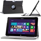 MoKo 360 Degree Rotating Cover Case for Samsung Ativ SmartPC 11.6-inch 500T Windows 8 Tablet, BLACK (with Vertical and Horizontal Stand, and Smart Auto Sleep/Wake)