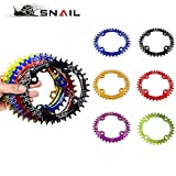 Generic 34T Gold Oval : SNAIL MTB Oval Chainring 104BCD 32T/34T/36T Narrow Wide Chainwheel Bicycle Ultralight...