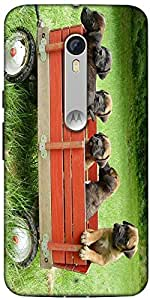 Snoogg Puppy'S Day Out Designer Protective Back Case Cover For Motorola Moto X Style