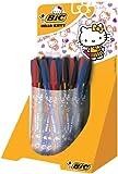 Bic Cristal Stylo-Bille Hello Kitty Pack de 40 Couleurs Assorties 15 Noir/15 Bleu/10 Rouge