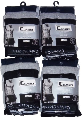 new-mens-12-pairs-calvin-classic-boxer-short-size-s-m-l-xl-jersey-cotton-quality-button-fly-free-uk-