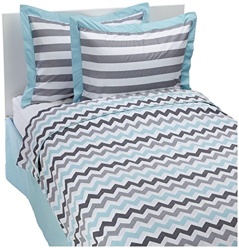 My Baby Sam Chevron in Aqua Bedding Set- Full- Aqua